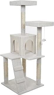 PETMAKER Penthouse Sleep & Play Cat Tree, 4', White