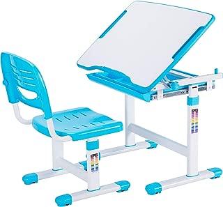 VIVO Blue Height Adjustable Childrens Desk and Chair Set   Kids Interactive Workstation (DESK-V201B)