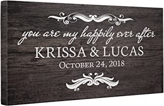 You Are My Happily Ever After Personalized Canvas Wall Art