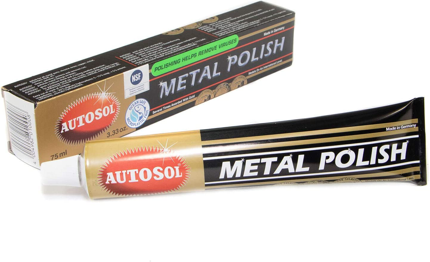 Complete Free Shipping 75 mL Autosol Raleigh Mall Metal Polish for Copper Chrome and more Brass