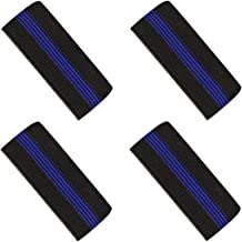 Mourning Bands for Badges - Thin Blue Line Elastic Mourning Bands - Funeral Honor Bands - 4 Pack