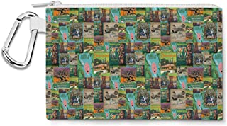 Adventureland Canvas Zip Pouch - Multi Purpose Pencil Case Bag