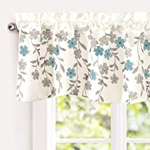 DriftAway Isabella Faux Silk Embroidered Kitchen Swag Valance Embroidered Crafted Flower..