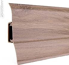 Sockelleisten ab 15m Eiche weiß 62mm Bodenleisten Laminat PVC Kabelkanal