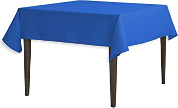 LinenTablecloth 54-Inch Square Polyester Tablecloth Royal Blue