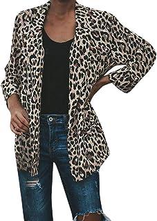 c0f53c6f5 Sufeng Fashion Women Warm Vintage Animal Leopard Print Faux Fur Jacket Coat  Outwear