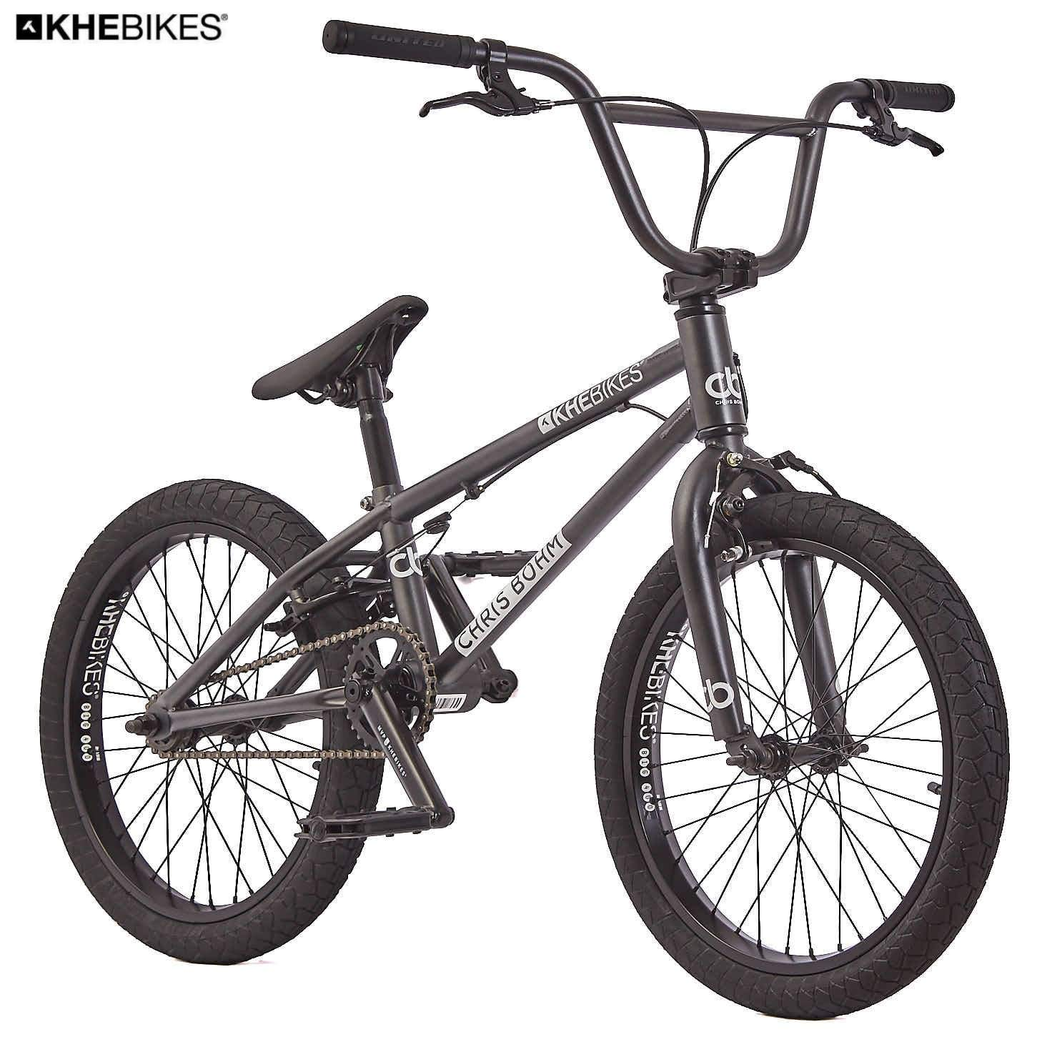 KHE Bmx bicicleta Chris Böhm Negro Cromo solo 11,45 kg.: Amazon.es ...