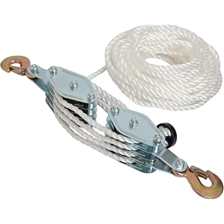 Rigging Tool WUIIEN Lifting Pulley Block 4 Wheel Rope