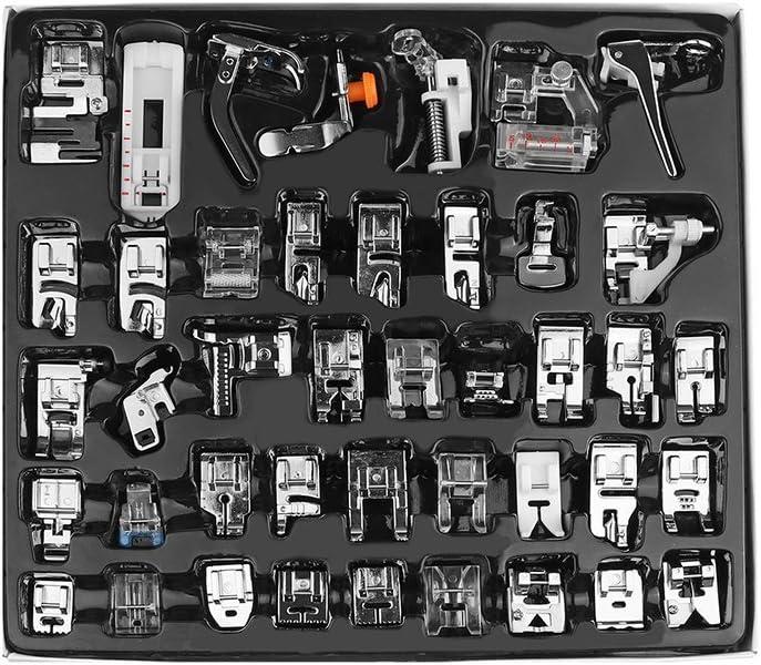 Kenmore und White Low Shank N/ähmaschinen Janome WElinks 32Pcs Professional N/ähmaschine Presser Feet Set,Domestic Sewing Walking F/ü/ße Tool Kit f/ür Brother Babylock S/änger