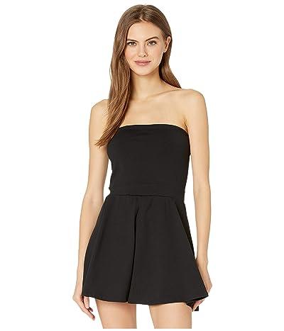 Susana Monaco Skirt Overlay Romper (Black) Women