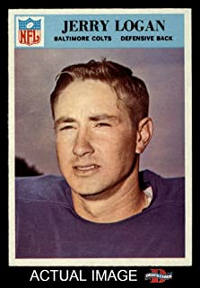 1966 Philadelphia # 17 Jerry Logan Baltimore Colts (Football Card) Dean's Cards 7 - NM Colts