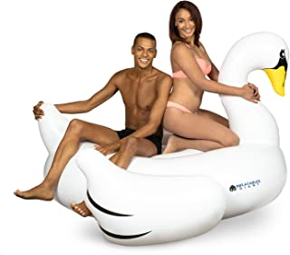 Inflatables Giant White Swan Plastic Pool Float, 6' Wide - Pump Included