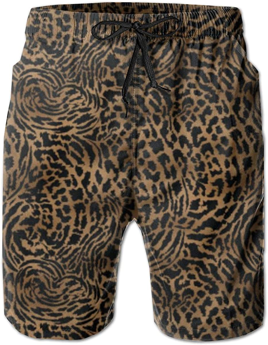 Mens 100/% Polyester Wildlife Animal Lion Swim Trunks Comfortable Swimsuit with Pockets