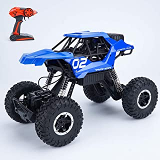 4WD Remote Control Monster Truck RC Car Hobby RC Crawlers - 12 Off Road CAR with Rechargeable Battery RTR Vehicle RC Outdoor CAR Blue for Adults