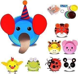 Mini-Factory Kids Early Learning Education Play DIY Cute Animal Creative Paper Plates Art Kit - 8Pcs