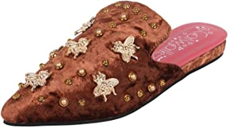 Catwalk Women's Bee Embellished Mules