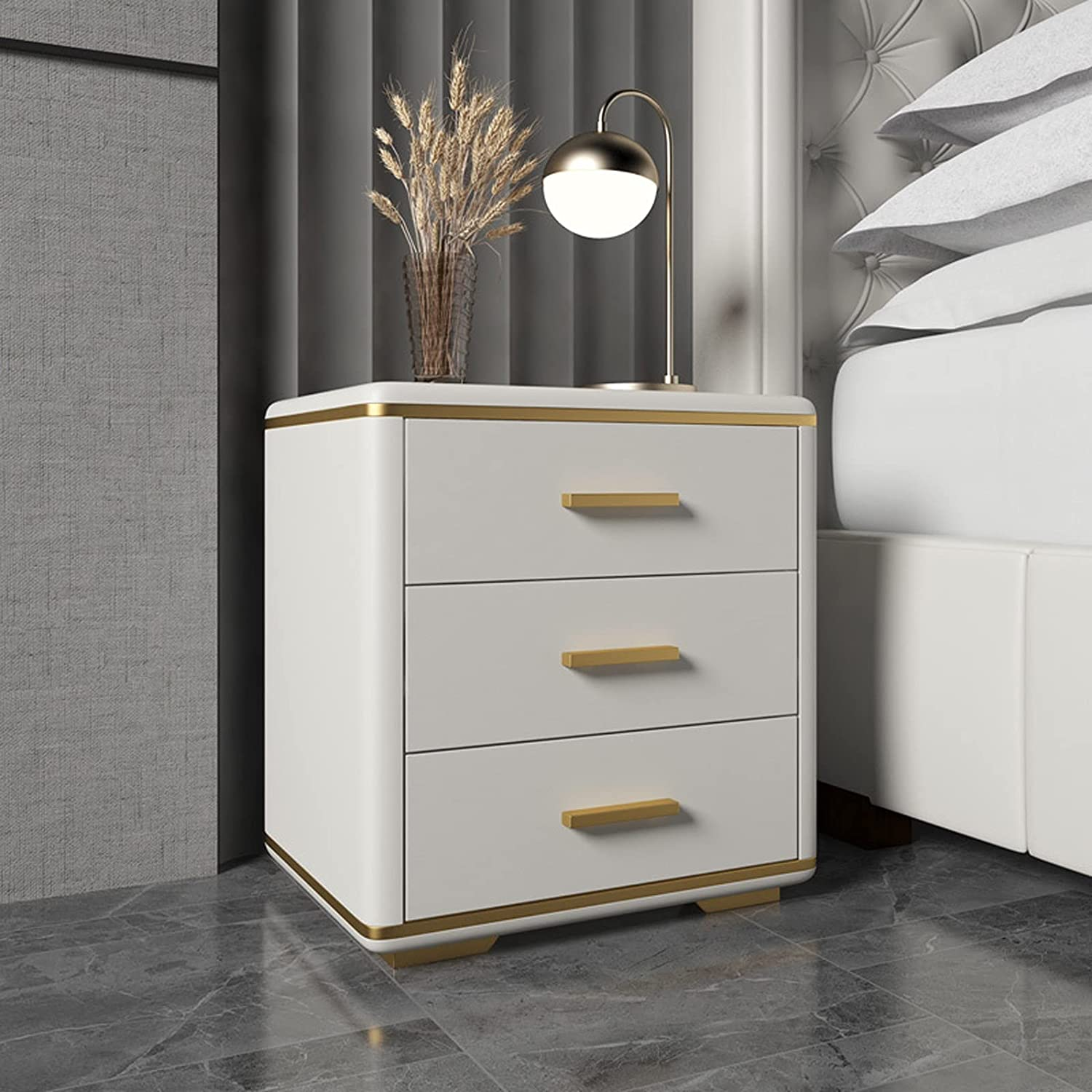 SHUTING2020 We OFFer Chicago Mall at cheap prices Bedroom Side Table Modern Bedro Master Bedside