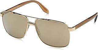 Versace Man Sunglasses, Gold Lenses Steel Frame, 59mm