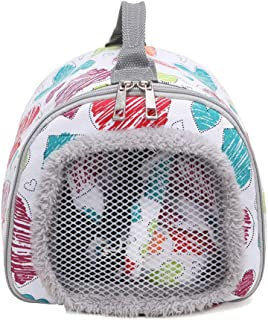 Hamster Outing Pet Bag, Portable Pet Carrying Bag, Convenient And Breathable, High-Quality Flannel + Canvas, Suitable for ...
