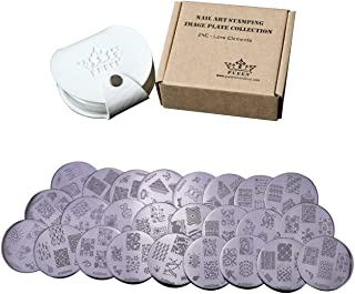 PUEEN Nail Art Stamp Collection Set 24E - LOVE ELEMENTS - NEW Unique Set of 24 Nailart Polish Stamping Manicure Image Plat...