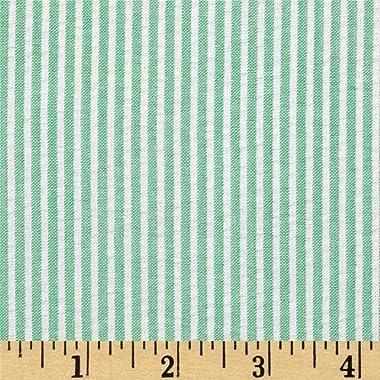 Regatta Seersucker Green, Fabric by the Yard