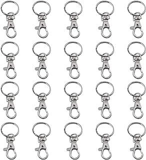 Starthi 20 PCS Metal Keyring, Carabiner Clip Keychains Lobster Clasps Swivel Clips Key Chain for Men Women