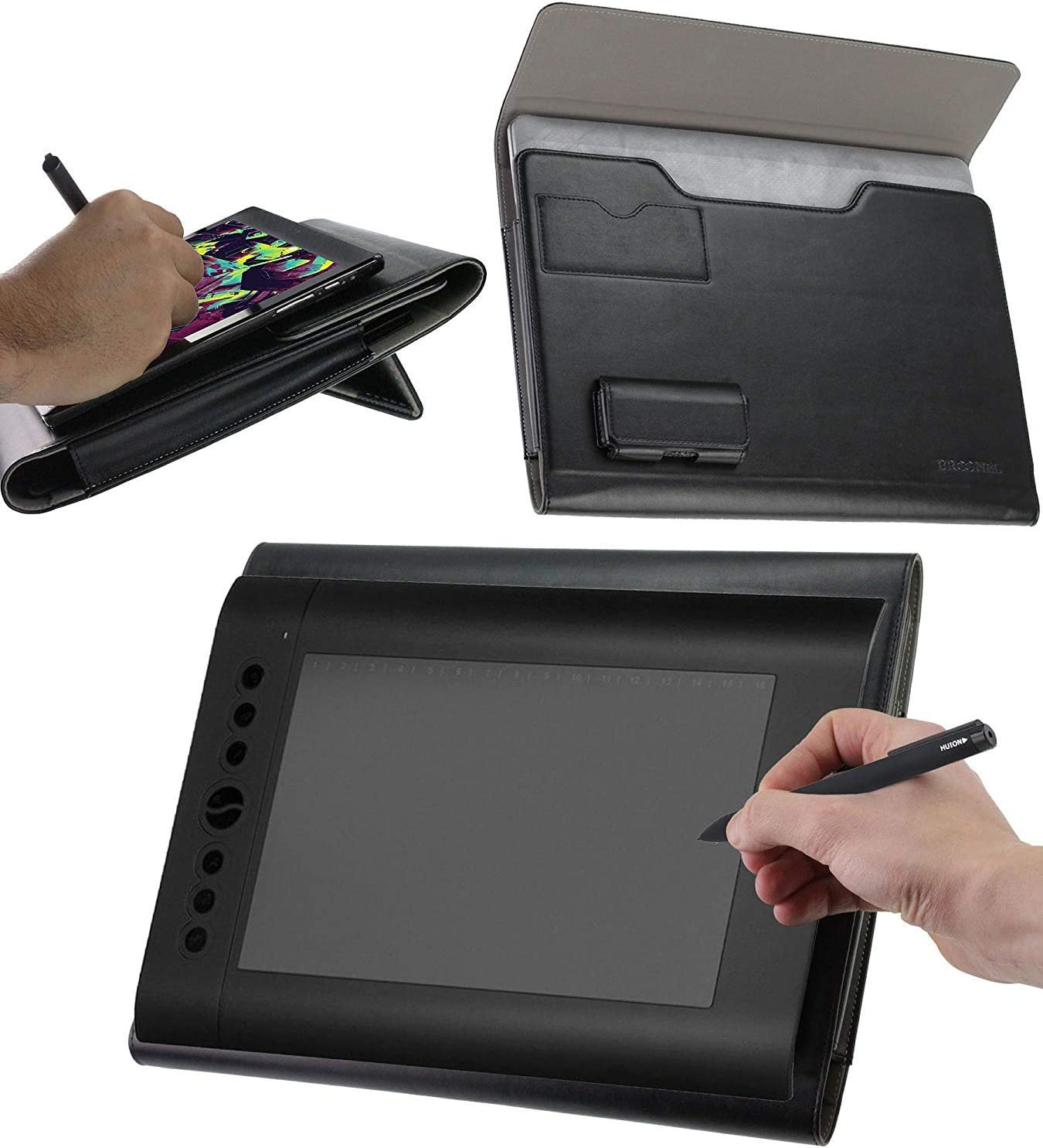 Broonel SEAL limited product Luxury Leather Graphics Tablet Built-in Case Ergono trend rank with