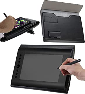 Broonel Luxury Leather Graphics Tablet Case with Built-in Ergonomic Stand Compatible with The HUION 1060 Plus Graphic Drawing Tablet 10 x 6.25