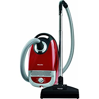 Miele Complete C2 Cat and Dog Power Line Bagged Cylinder Vacuum Cleaner, 4.5 L, 900 W Red