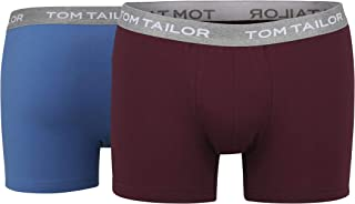 Tom Tailor Men's Trousers Plain Red Pack of 2