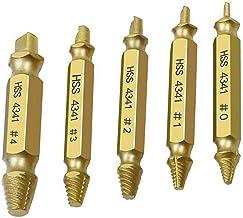 likeitwell 5 st/set titanbelagd 4341 skruvmejsel reparationsverktyg för trådbrott 5 uppsättningar