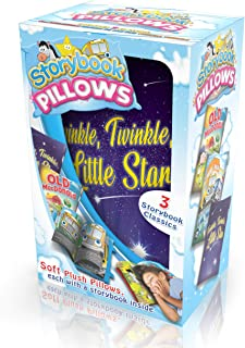 Mindscope Storybook Pillows Set of 3 Classic Stories Old MacDonald Twinkle Little Star & Wheels On The Bus