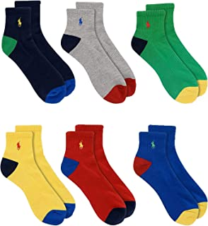 6-Pack P67 Logo Quarter Socks