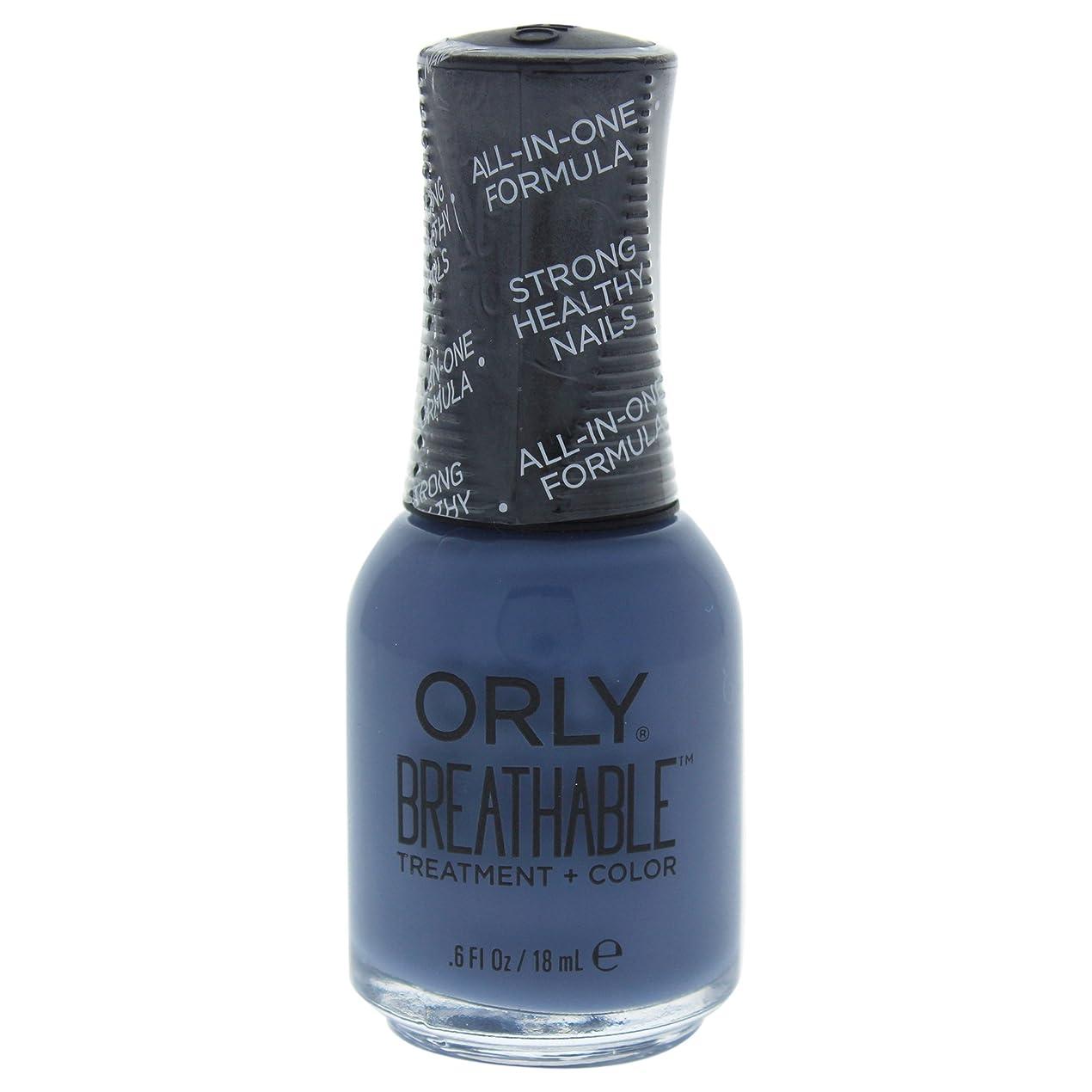 耕す下線ピッチOrly Breathable Treatment + Color Nail Lacquer - De-Stressed Denim - 0.6oz / 18ml