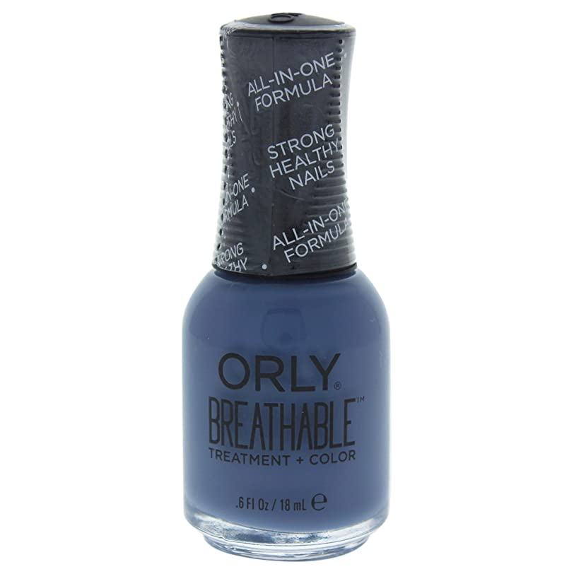 アデレード固執乗ってOrly Breathable Treatment + Color Nail Lacquer - De-Stressed Denim - 0.6oz / 18ml