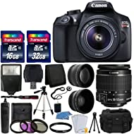 Canon EOS Rebel T6 Digital SLR Camera with 18-55mm EF-S f/3.5-5.6 is II Lens + 58mm Wide Angle...