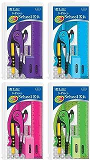مجموعة مدرسية من 5 قطع من BAZIC مع سحاب الحقيبة، حقيبة من 24 (453-24)