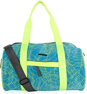 Steve Madden Bnelly Neoprene Active Gym Duffle Bag - Citron Multi