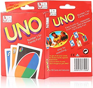 1 Sets of UNO CARDS Family Fun Playing Card Game Educational Theme 108 English Fun Cards Game Number 1 for Family Fun