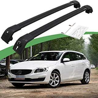 SnailAuto Fit for 2012-2017 Volvo V60 Roof Rack Crossbars Adjustable Baggage Carrier