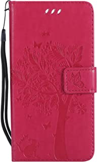 LODROC Lederen Portemonnee Case voor Huawei Honor 9, [Kickstand Feature] Luxe PU Lederen Portemonnee Case Flip Folio Cover...