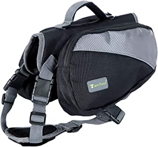 Wellver Dog Backpack Saddle Bag Travel Packs for Hiking Walking Camping