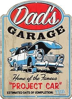 Open Road Brands Dad's Garage Project Car Metal Sign