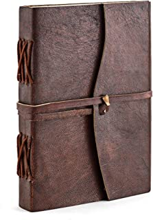 A.P. Donovan - Diary empty for reinschreiben leather note book - diary - Diary - Braun, A6