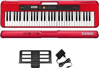 كاسيو CT-S200RDC2 لوحة مفاتيح كاسيو كاسيو كاسيو كاسيو الموسيقية، 61 مفتاح- احمر