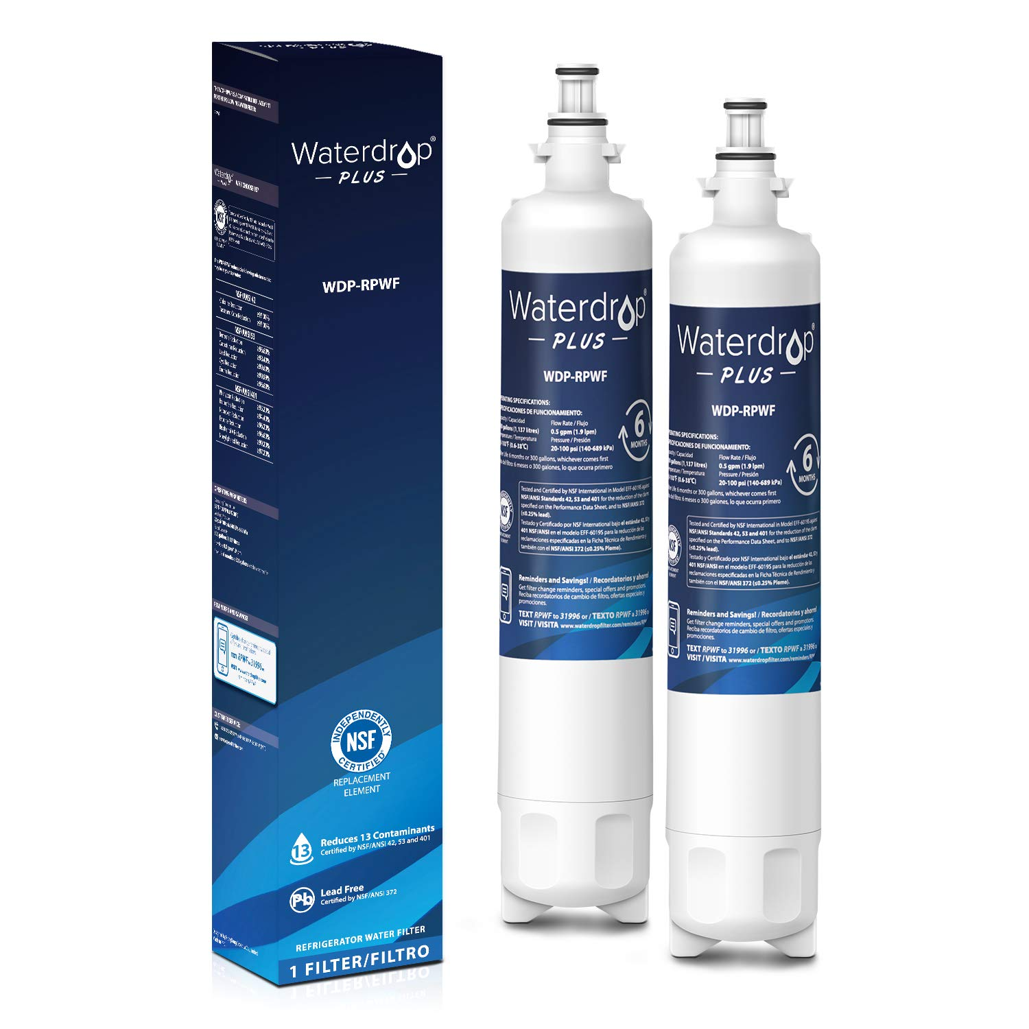 Waterdrop Replacement Refrigerator Filter Compatible