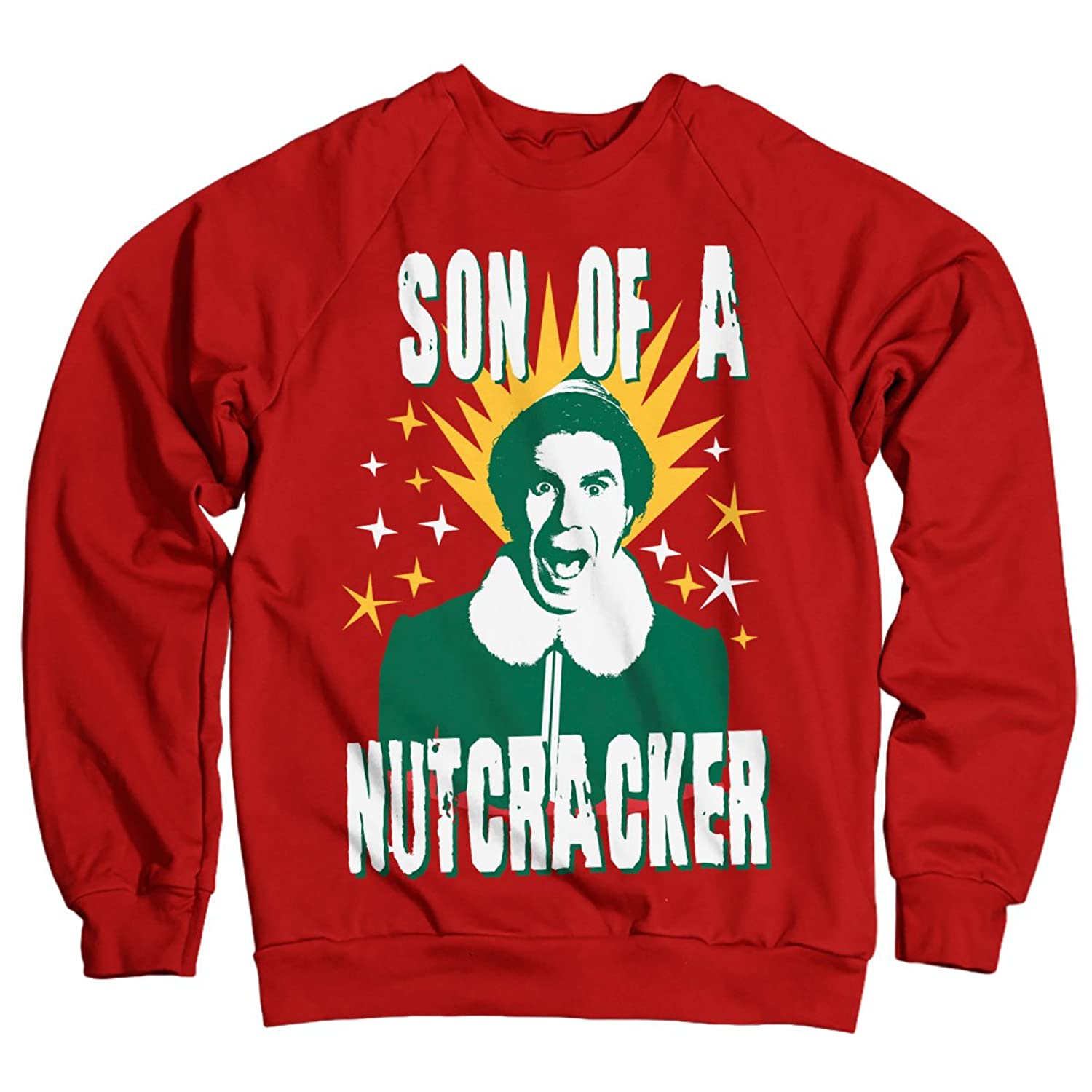 Officially Licensed ELF - Son Of A Nutcracker Sweatshirt (Red)
