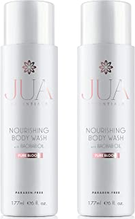 JUA Essentials Premium Nourishing Body Wash - With Baobab, Sweet Almond, Avocado and Chia Seed Oils - For Women By Hill Harper (2 Bottles)