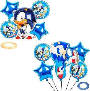 WENTS Caricatura Sonic globo Cake Topper,Plaza Sésamo globo Banderines para fiesta,Baby Shower Fiesta de cumpleaños Pastel...