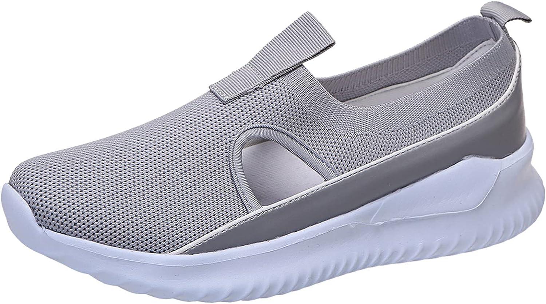 Dreamyam Womens San Francisco Mall Mesh Flats Shoes Slip-On Color Sports Free shipping on posting reviews Solid Casu